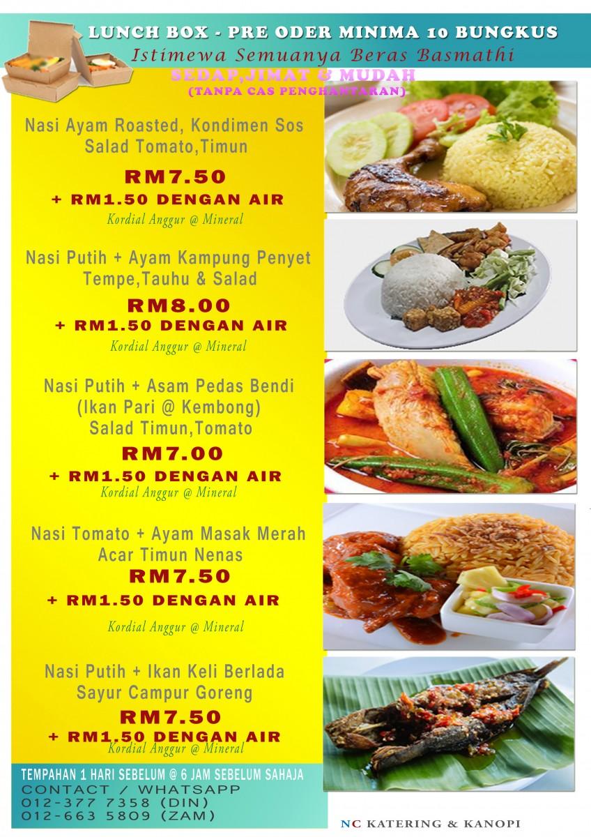 menu 2 - Tapau Makan NC